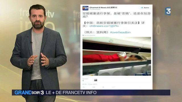 Le + de France tv info : quand les hôtesses de l'air se cachent dans les compartiments à bagages