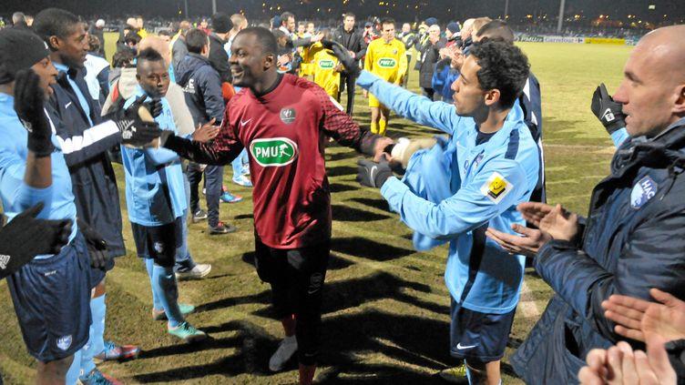 Destin Onka Malonga, gardien d'Alès (CFA2). (BRUNO CAMPELS / MAXPPP)
