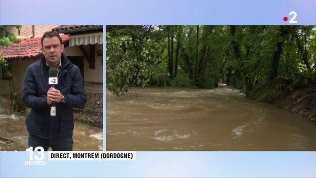 Dordogne : un déluge s'est abattu sur Montrem