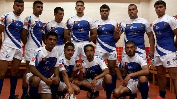 L'équipe nationale de rugby afghan à Dubaï le 27 avril 2012 (AFP PHOTO / MARWAN NAAMANI)