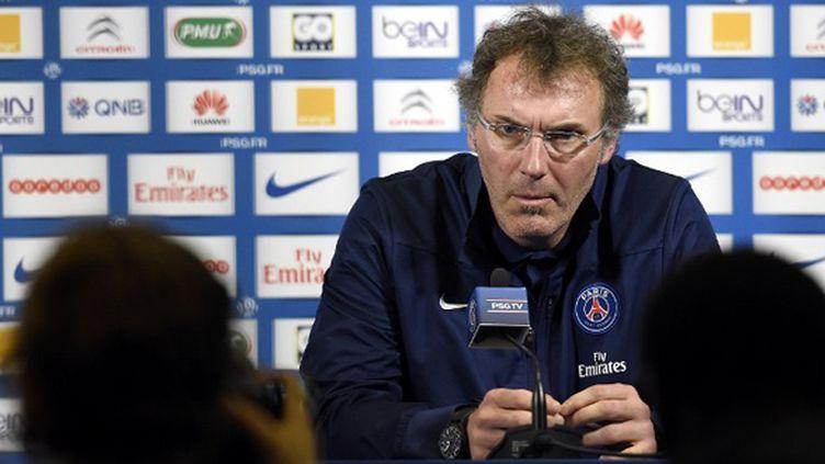Laurent Blanc (PSG) face à la presse (FRANCK FIFE / AFP)