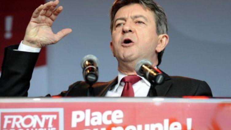 J.L Mélenchon le 29 juin 2011 lors d'un meeting à Paris (AFP)