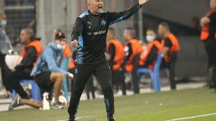 Le bouillant entraîneur marseillais Jorge Sampaoli déçu par ses deux matches nuls en Ligue Europa. (BURAK AKBULUT / ANADOLU AGENCY)