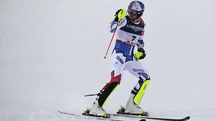 Le skieur français Alexis Pinturault, le 11 février 2019 à Are (Suède). (JONATHAN NACKSTRAND / AFP)