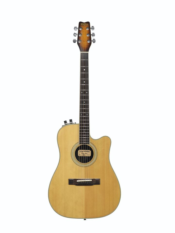 GEORGE WASHBURN, CIRCA 1983 A DREADNOUGHT-FORM SOLID-BODY ACOUSTIC-ELECTRIC GUITAR, MIRAGE DELUXE (CHRISTIE'S - THE DAVID GILMOUR GUITAR COLLECTION)