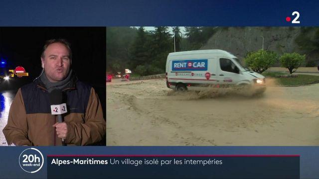 Alpes-Maritimes : un village isolé par les intempéries