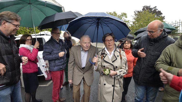 Pierre et Viviane Lambert, les parents de Vincent Lambert, le 19 mai 2019 à Reims (Marne). (REMI WAFFLART / MAXPPP)