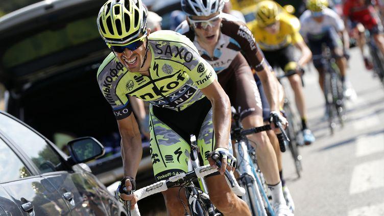 Alberto Contador en plein effort (YUZURU SUNADA / BELGA MAG)