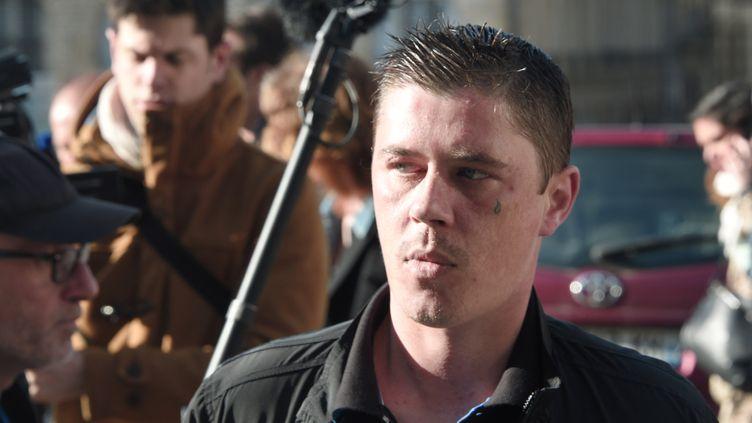 Daniel Legrand fils arrive à son procès à Rennes (Ille-et-Vilaine), le 19 mai 2015. (DAMIEN MEYER / AFP)