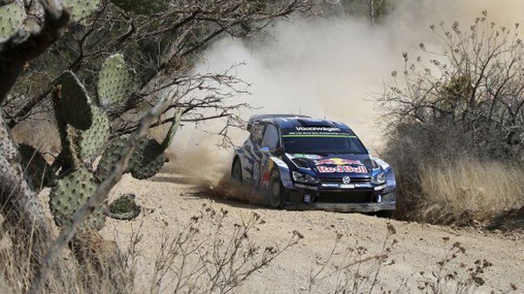 Sébastien Ogier (Volkswagen Polo-R) mène la danse au Mexique (ANTONIO SANCHEZ / MEXSPORT)