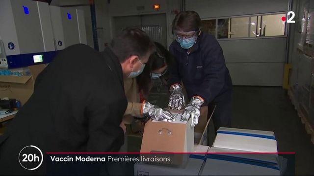 Vaccination contre le coronavirus : les premières doses du vaccin Moderna arrivent en France