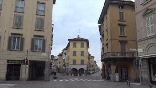 Bergame (Italie), le 15 mars 2020. (GILLES GALLINARO / RADIO FRANCE)