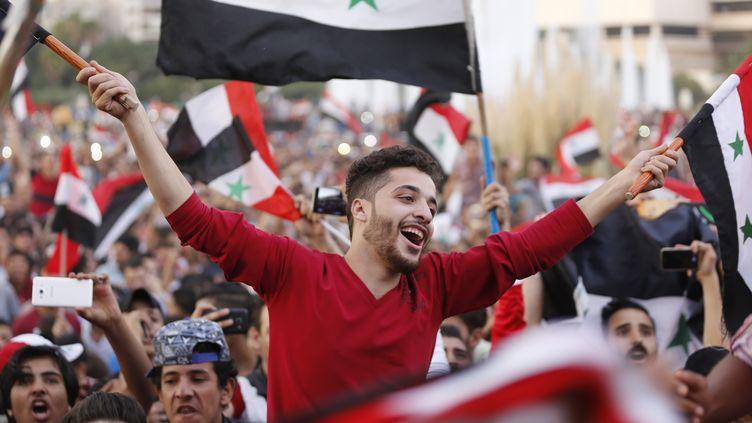Malgré la guerre civile, la Syrie vibre derrière sa sélection nationale. (LOUAI BESHARA / AFP)