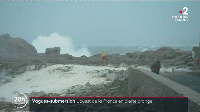"""Climat : cinq départements en alerte orange """"vagues-submersion"""""""