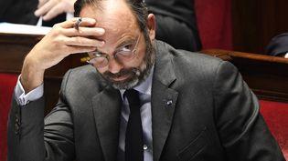 Le Premier ministre, Edouard Philippe, à l'Assemblée nationale, le 12 novembre 2019 à Paris. (BERTRAND GUAY / AFP)