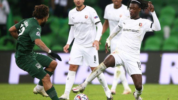 Rennes lors de leur dernier match en Ligue des champions  (VITALY TIMKIV / SPUTNIK)