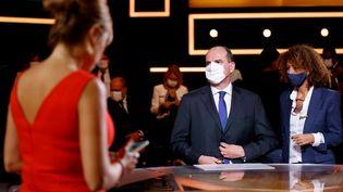 """Le Premier ministre Jean Castex est l'invité de l'émission """"Vous avez la parole"""" sur France 2, jeudi 24 septembre à Paris. (THOMAS COEX / AFP)"""