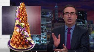 """Capture d'écran de l'émission """"Last Week Tonigt"""" sur HBO, dimanche 15 novembre. (LE HUFFPOST / DAILYMOTION)"""