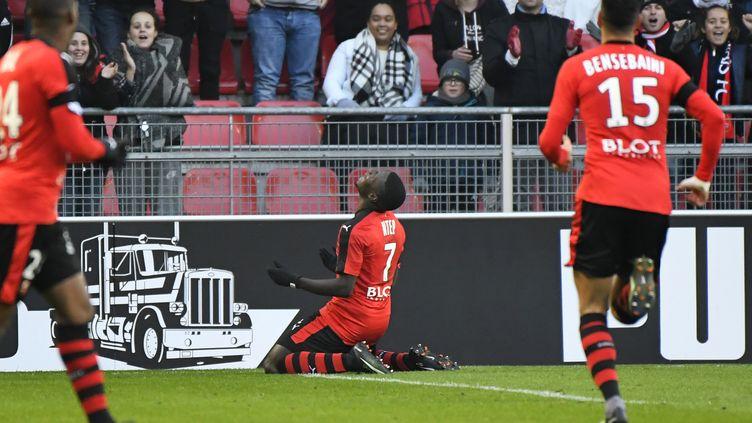 Paul-Georges Ntep enfin en réussite pour le Stade Rennais (DAMIEN MEYER / AFP)