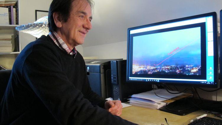 François Louange, le 27 février 2017 au Fresne (Eure). Cet ingénieur a développé un logiciel pour analyser les photos François Louange.  (FABIEN MAGNENOU / FRANCEINFO)