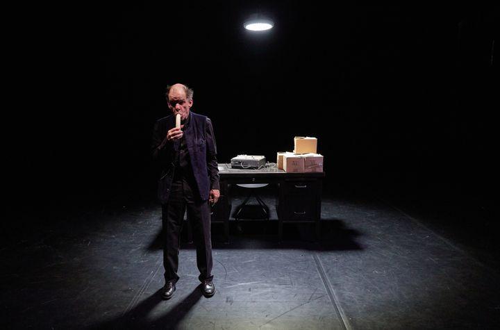 """Denis Lavant dans """"La Dernire bande"""" de Samuel Becket. (PIERRE GROSBOIS  / PIERRE GROSBOIS)"""