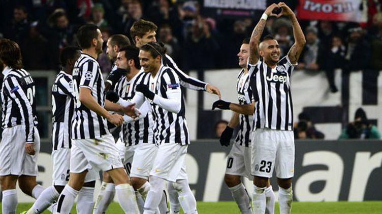 Grande joie des joueurs de la Juventus