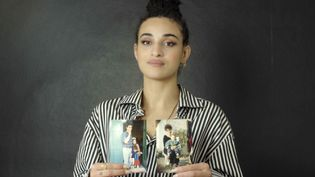 """La chanteuse et comédienne Camélia Jordana, dans le documentaire """"Histoires d'une nation"""" diffusé sur franceinfo. (POINT DU JOUR INTERNATIONAL)"""