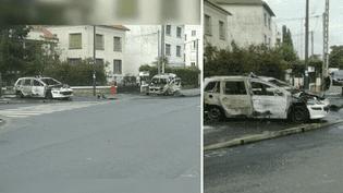 Quatre policiers ont été blessés après avoir été la cible de cocktails molotov dans la cité de la Grande Borne, située à cheval sur les communes de Grigny et Viry-Châtillon (Essonne), le 8 octobre 2016. (FRANCE 3)