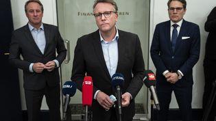 """""""Il est absolument crucial (...) de pouvoir redémarrer la société danoise, que les entreprises reviennent sur les rails"""", a souligné le ministre danois de la Fiscalité Morten Bodskov, mercredi 3 février 2021 à Copenhague (Danemark). (MARTIN SYLVEST / RITZAU SCANPIX / AFP)"""