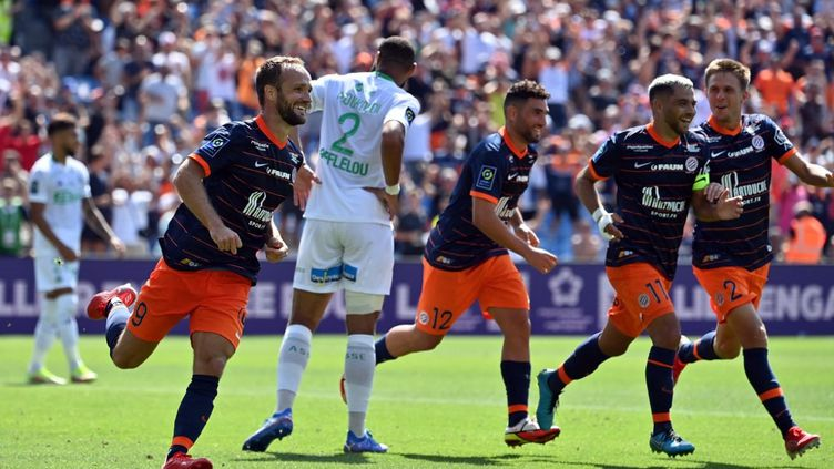 Valère Germain a ouvert son compteur sous le maillot de Montpellier. (PASCAL GUYOT / AFP)