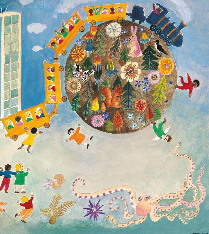 """""""En sortant de l'école et autres poèmes"""" Jacques Prévert (Collection """"Enfance en poésie"""" Gallimard Jeunesse)  (Jacqueline Duhême )"""
