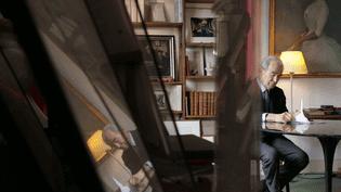 L'ancien garde des Sceaux, Robert Badinter, le 30 mars 2018 à Paris. (19H LE DIMANCHE / FRANCE 2)