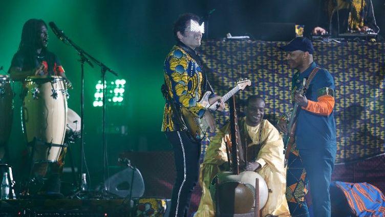 Matthieu Chedid en concert à Cannes  (LAURENT EMMANUEL / AFP)