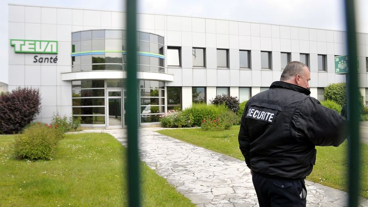 L'usine de conditionnement du laboratoire pharmaceutique Teva à Sens (Yonne), le 10 juin 2013. ( MAXPPP)