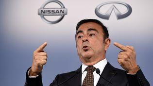 Le patron de Renault, Carlos Ghosn, apparaît en 4e position des dirigeants du CAC 40 les mieux payés en 2014, avec 7,1 millions d'euros. (TOSHIFUMI KITAMURA / FILES / AFP)