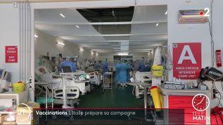Dans un hôpital en Italie. (France 2)