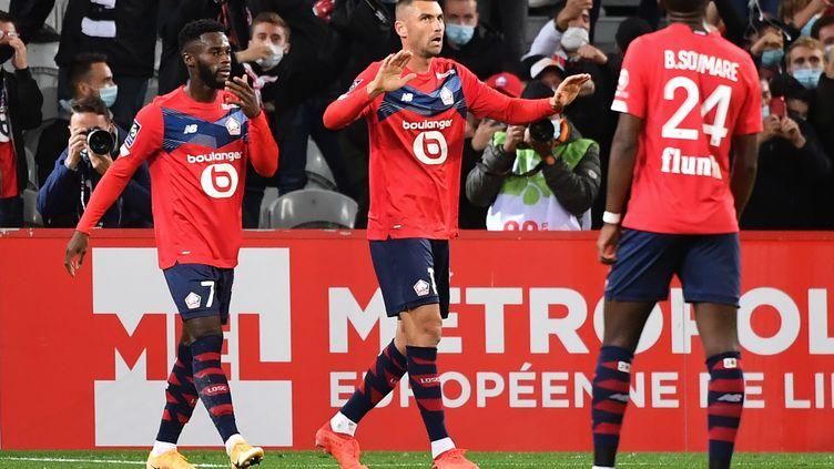 Burak Yilmaz a inscrit son premier but avec le LOSC contre Nantes (DENIS CHARLET / AFP)