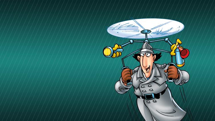 (L'inspecteur Gadget se caractérise, comme son nom l'indique, par ses inombrables gadgets, et notamment son chapeau-hélico.)