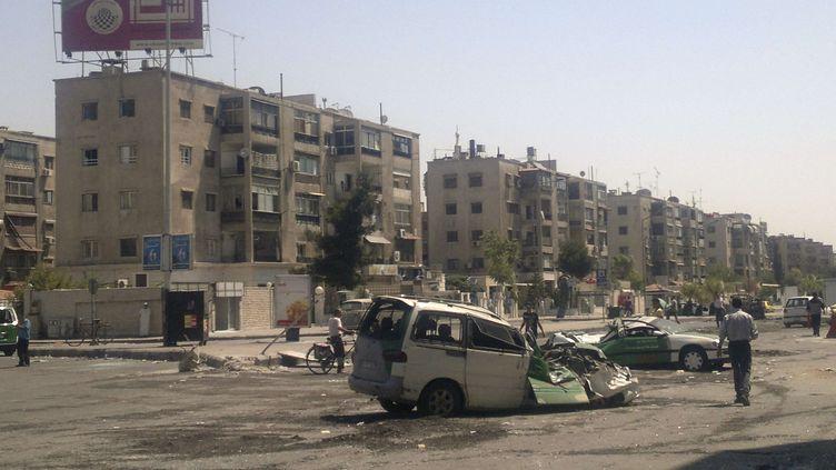 Le camp de Yarmouk, dans le sudde Damas (Syrie), en juillet 2012. (ANONYMOUS/ AP / SIPA)