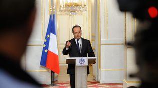 François Hollande s'exprime sur la moralisation de la vie politique à l'issue du conseil des ministres du 10 avril 2013. (MAXPPP)
