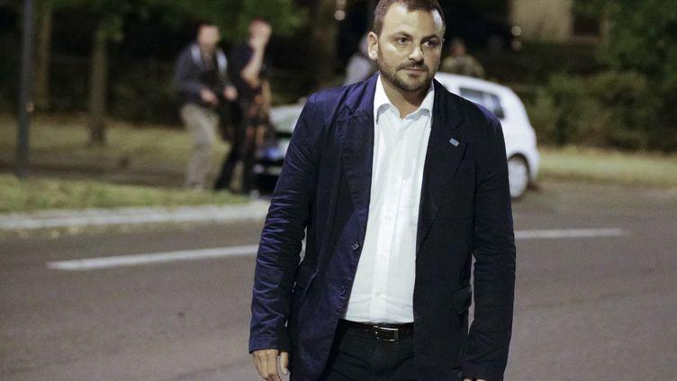 Romain Colas, maire deBoussy-Saint-Antoine (Essonne). (GEOFFROY VAN DER HASSELT / AFP)