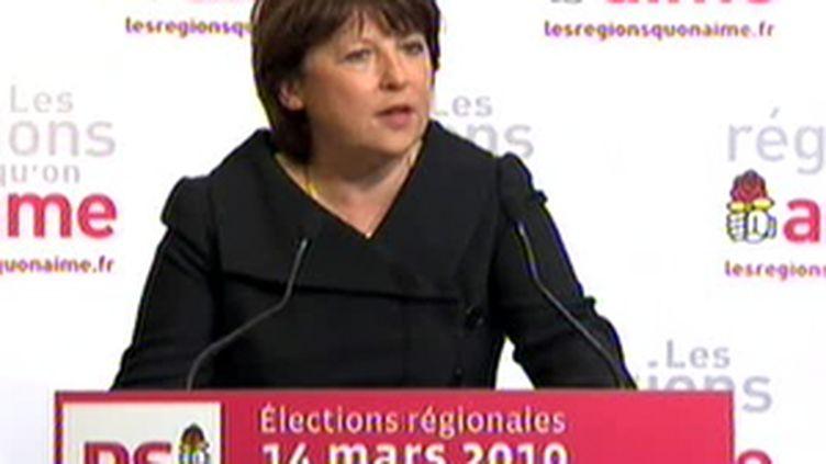 Martine Aubry - 14/03/2010