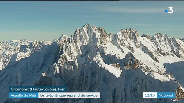 Aiguille du Midi : le téléphérique reprend du service