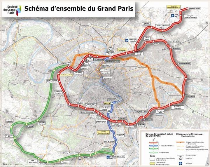 Tracé prévisionnel du Grand Paris Express. (GRAND PARIS)