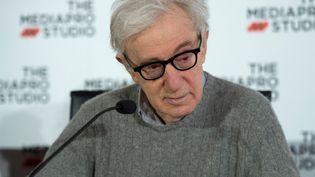 Woody Allen lors de la conférence de presse tenue pour le début du tournage de son prochain film à Saint-Sébastien le mardi 9 juillet 2019. (ANDER GILLENEA / AFP)