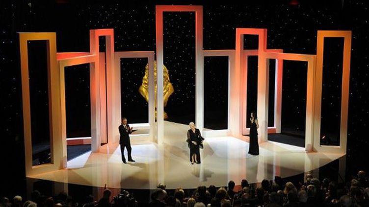 Les Molières 2010, présidés par Line Renaud, à la Maison des Arts et de la culture de Créteil (Val-de-Marne)  (Fred Dufour / AFP)