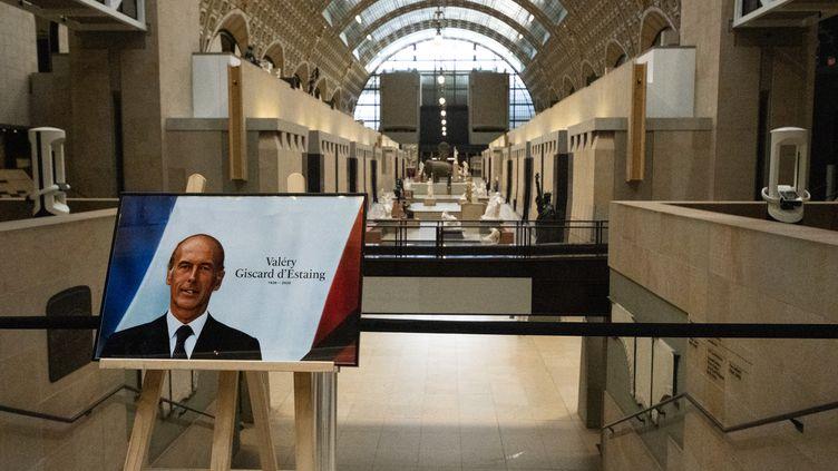 Hommage à Valéry Giscard d'Estaing au musée d'Orsay, le 4 décembre 2020 (SANDRINE MARTY / HANS LUCAS VIA AFP)