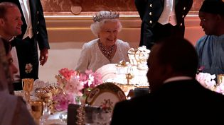 La reine Elizabeth II lors du sommet du Commonwealth le 19 avril 2018  (Toby Melville / POOL / AFP )