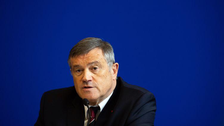 Pierre Carli,président du Conseil national de l'urgence hospitalière et chef du service du Samu de Paris, le 14 juin 2019. (MARTIN BUREAU / AFP)