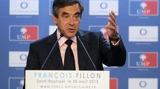 François Fillon, le 30 août 2013 à Saint-Raphaël (Var). (JEAN-CHRISTOPHE MAGNENET / AFP)